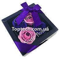 Подарочный набор с розами из мыла Soap Flower 4 шт Фиолетовый