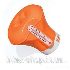 Поплавок-дозатор химии для бассейнов с термометром Bestway 58209O