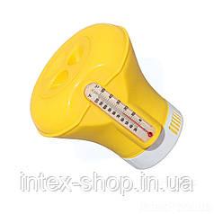 Поплавок-дозатор химии для бассейнов с термометром Bestway 58209Y