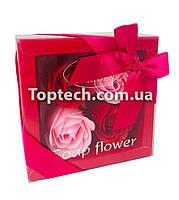 Подарочный набор с розами из мыла Soap Flower 4 шт Розовый
