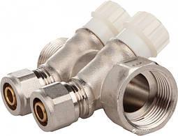 Коллектор  вентильный с фитингом FADO 3/4 X16 -2 выхода