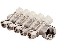 Коллектор  вентильный с фитингом FADO 3/4 X16 -5 выходов