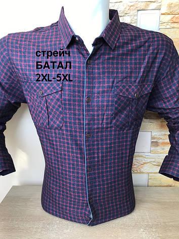 Батальна  сорочка довгий рукав Amato в клітку, фото 2