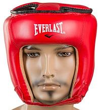 Боксерский шлем открытый тренировочный EVERLAST FLEX Для единоборств Красный(EVF450-RM) S