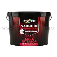Акриловый интерьерный лак Kompozit Aqua Interior 2.5л (глянец)