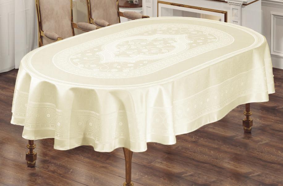 Скатерть Sagol тефлон 160x260 ovale St-052 Cream