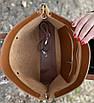 Сумка жіноча шкіряна велика коричнева набір 2 в 1, фото 6
