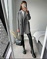 Женское модное трикотажное пальто (42-46) ft-1072