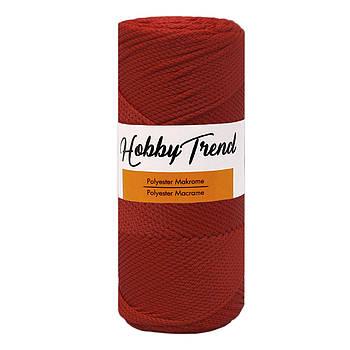 Полипропиленовый шнур Макраме Hobby Trend. Красный. 200г, 230м, 2-3 мм