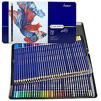 Карандаши цветные MARCO CHROMA 72 цвета в металлическом пенале