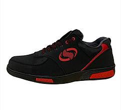 Кроссовки мужские черные на красной подошве