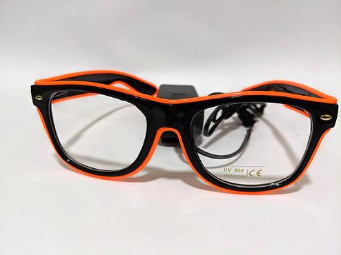 Неоновые очки для вечеринок оранжевые, фото 2