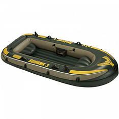 Трехместная надувная лодка Intex 68349 (295х137х43 см) SeaHawk 3