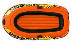 Полутораместная Intex надувний човен 58356 Explorer Pro 200, 196 х 102 см