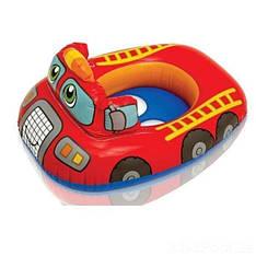 Надувний круг з сидінням і зі спинкою Intex 59586(74х58 см) Червона Машинка