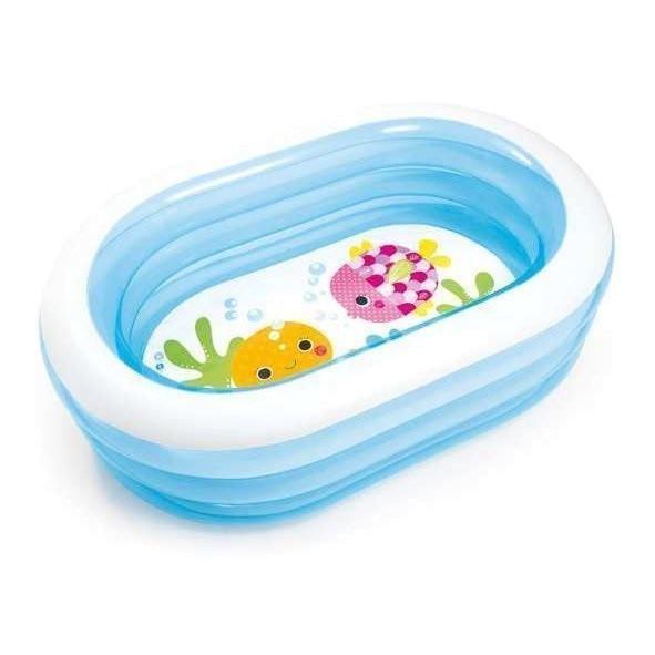 Детский надувной бассейн Intex 57482 «Морские друзья», 163 х 107 х 46 см