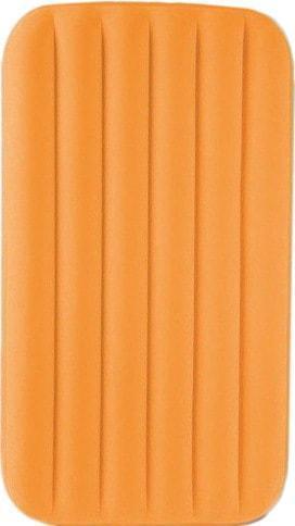 Одноместный надувной матрас Intex 66803 с велюровым покрытием 88х157х18 см (оранжевый)