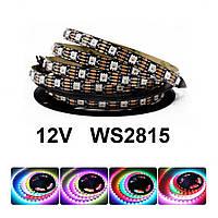 """Адресная Smart светодиодная лента """"Digital RGB"""" SMD 5050 60led/m, WS2815 12v ip20 pixel strip Черный"""