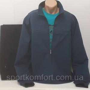 Весняний спортивний трикотажний костюм FORE бавовна 74 брюки прямі великі розміри