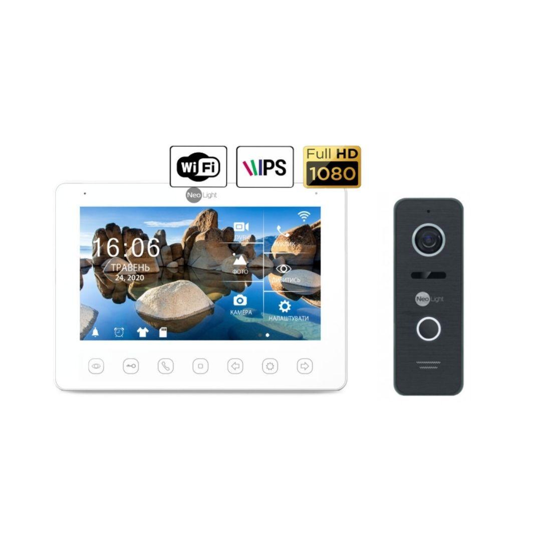 Комплект домофона NeoLight NeoKIT HD+ WiFi Black, Bronze