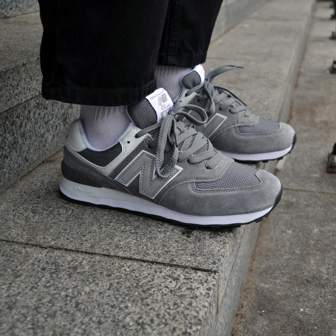 Чоловічі кросівки New Balance 574 Grey ( Репліка )