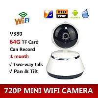 Бездротова IP смарт камера Smart NET Wi Fi V380 Q6 з датчиком руху нічним баченням і панорамним оглядом, фото 1