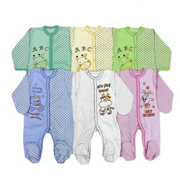 Человечки для новорожденных, на кнопках (интерлок)