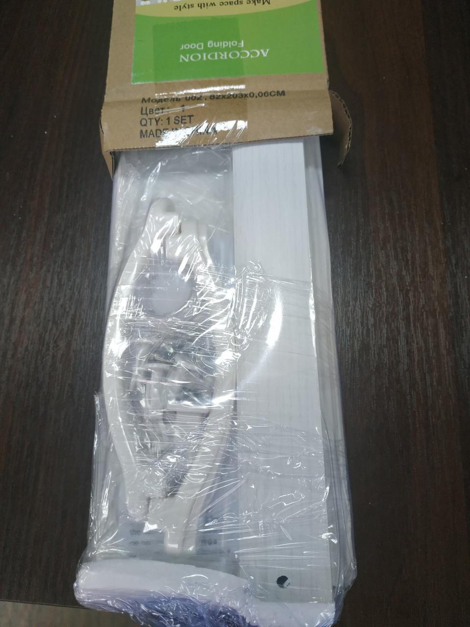 Ширма - гармошка белая 820х2030х0,6 мм гармошка раздвижная межкомнатная пластиковая глухая - фото 8