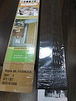 Ширма гармошка №4 Дуб темный 820х2030х0,6 мм  дверь раздвижная межкомнатная пластиковая глухая, фото 2
