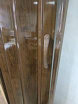 Ширма гармошка №4 Дуб темный 820х2030х0,6 мм  дверь раздвижная межкомнатная пластиковая глухая, фото 3