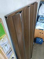 Дверь-гармошка ширма Каштан 820х2030х0,6 мм №14 раздвижная межкомнатная пластиковая глухая, фото 3