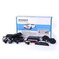"""Парктроник Assistant 068 D=18,5mm /4датч/LED/""""beeper""""/black (срабатывает 30-200см)"""