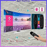 Пульт аэро мышка с клавиатурой Air Mouse C120 для Android TV Smart с гироскопом и русской раскладкой.