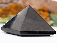 Пирамида полированная из натурального шунгита 7 см ШУНГИТ