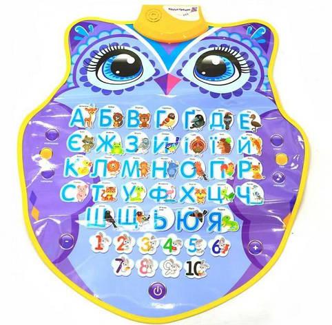 Інтерактивний плакат Абетка Розумне Совеня, Країна іграшок, PL-719-23, фото 2