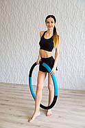 "Масажний Обруч ""Heavy Hoop"" 900 мм, вага 2 кг бірюзово-чорний, фото 2"