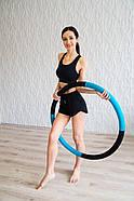 "Масажний Обруч ""Heavy Hoop"" 900 мм, вага 2 кг бірюзово-чорний, фото 3"