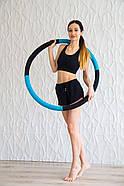 "Масажний Обруч ""Heavy Hoop"" 900 мм, вага 2 кг бірюзово-чорний, фото 6"