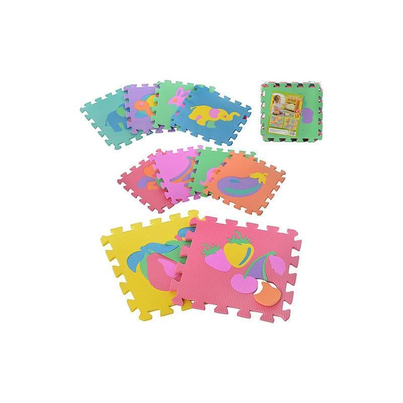 Детский игровой развивающий коврик-пазл (мозаика головоломка) OSPORT (M-0376)