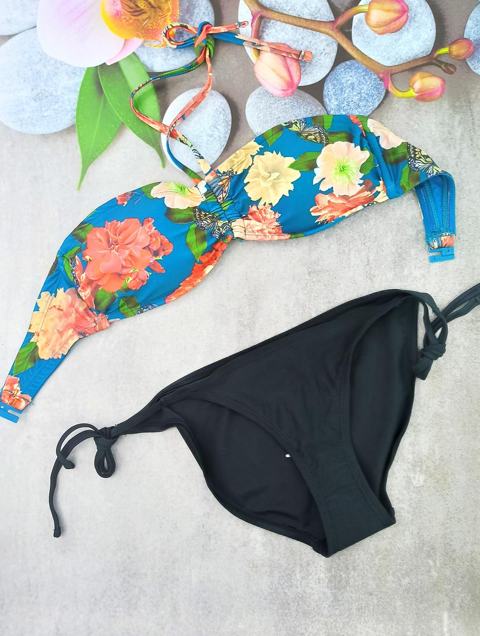 Женский купальник Esmara анжелика 36р  морская волна с черным (312241)