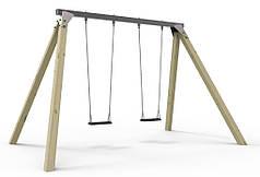 Конструкция Детские качели с 2 сидениями на цепях