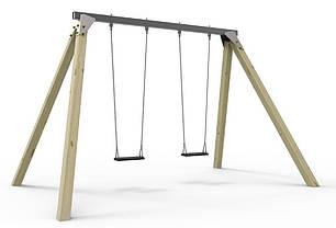 Конструкція Дитячі гойдалки з 2 сидіннями на ланцюгах, фото 2