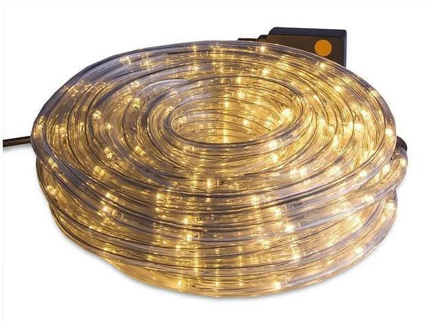 Світлодіодна Вулична Гірлянда Дюралайт 10 м., теплий білий з перехідником 220V світлодіодний Led, фото 2