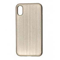 Чохол Накладка Силікон TPU Rubble iPhone 10 (Глянець) ОРИГІНАЛ Gold