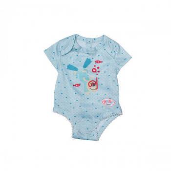 Одяг для ляльки BABY born - Боді S2 (блакитне) 830130-2
