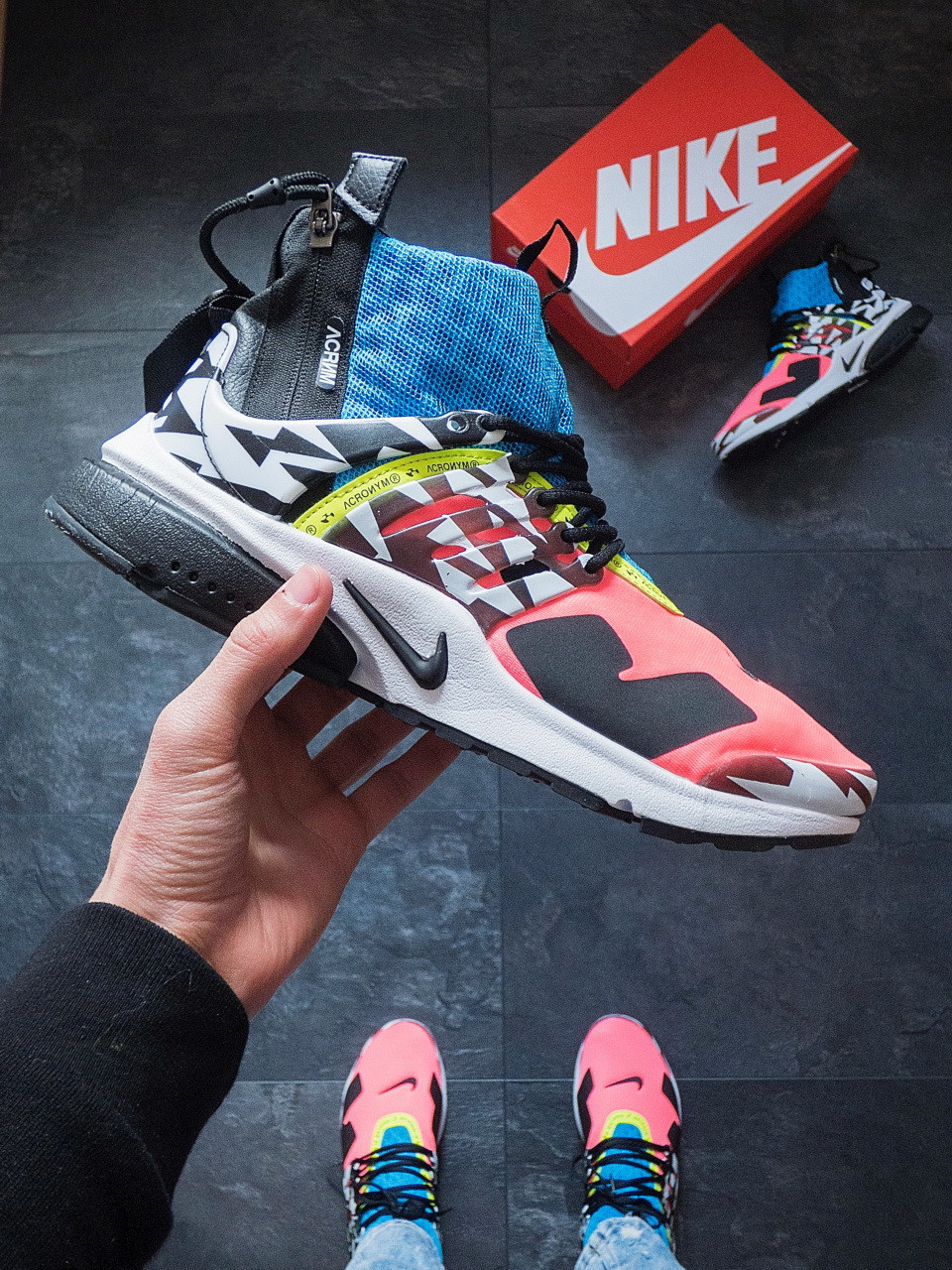 Кросівки чоловічі Nike presto acronym pink