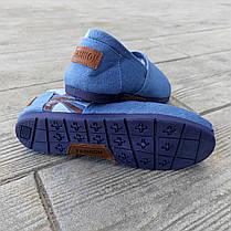 Джинсові сліпони мокасини жіночі сині блакитні тканинні літні легкі, фото 2
