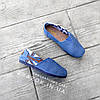 Джинсові сліпони мокасини жіночі сині блакитні тканинні літні легкі, фото 4