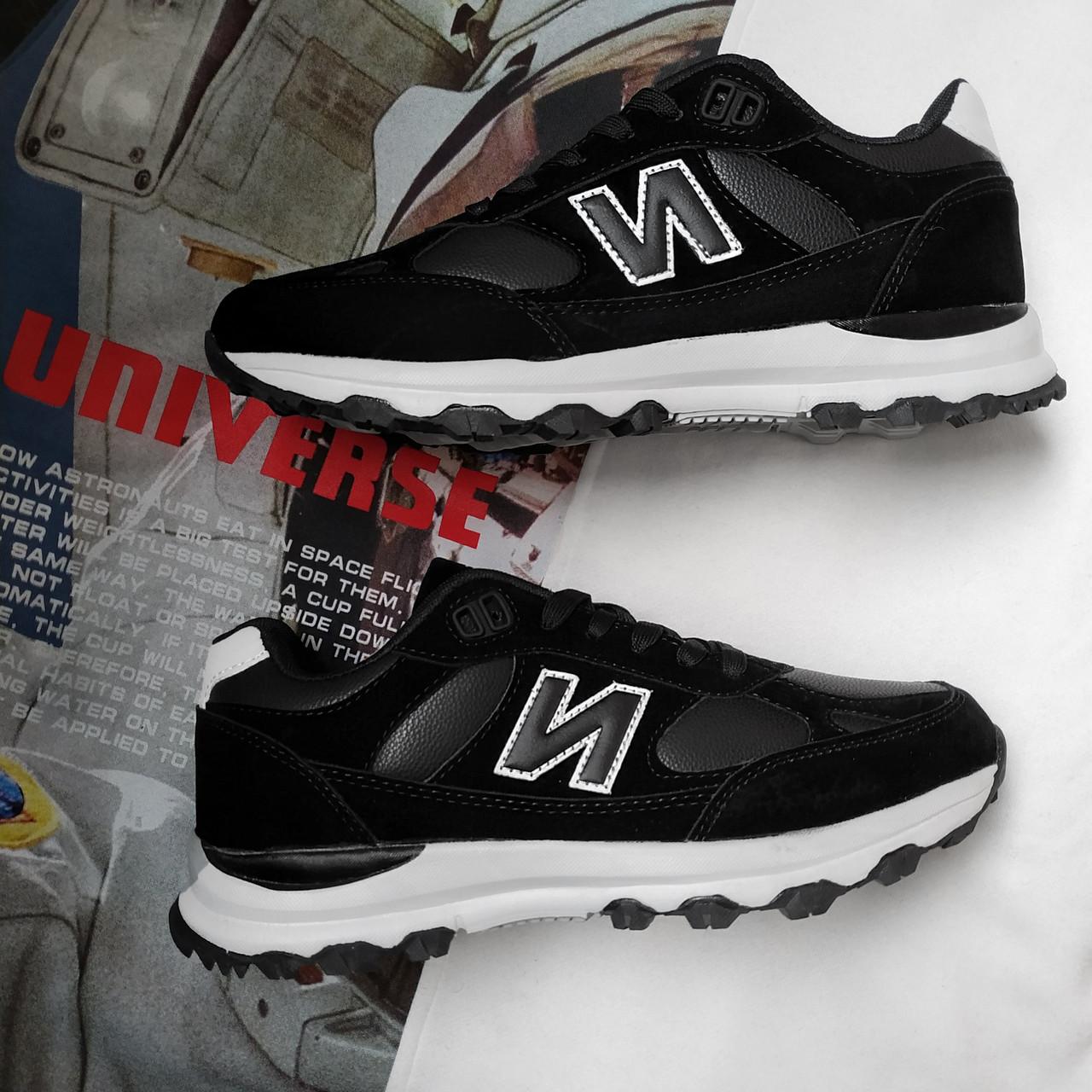 Мужские кроссовки в стиле New Balance Черные 44 на 28.5 см.