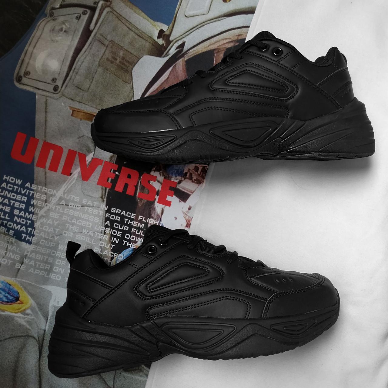 Кроссовки в стиле  Nike Tekno M2K Черные